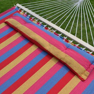 Boydton Quilted Fabric Double Tree Hammock by Highland Dunes