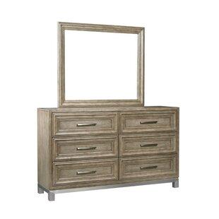 Gwyneth 6 Drawer Dresser with Mirror by Gracie Oaks