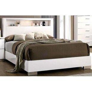 Sim Eastern King Solid Wood Storage Platform Bed