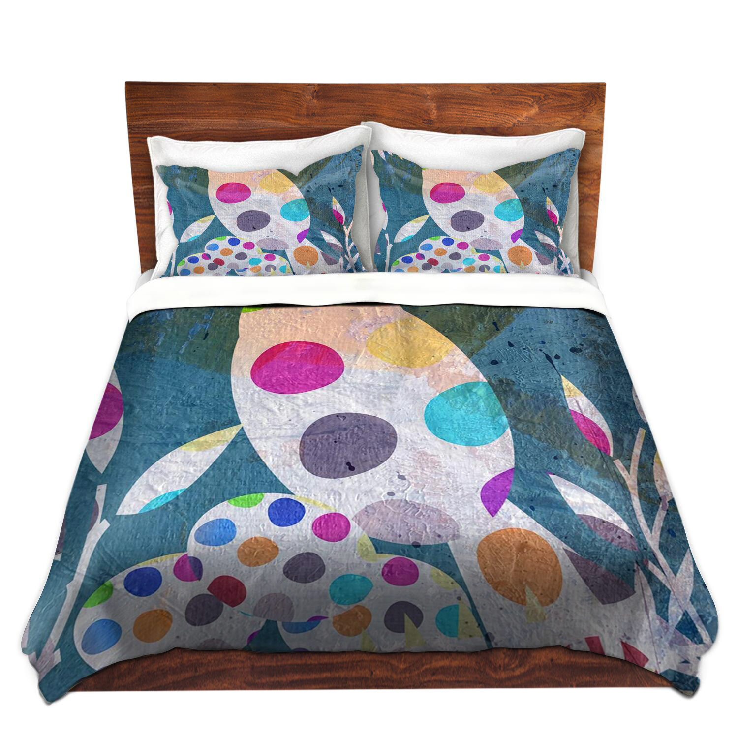 Ebern Designs Kuo Ruth Palmer Cute Bird With Eggs Microfiber Duvet Covers Wayfair