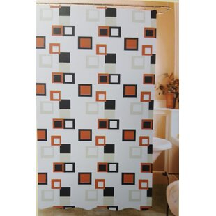 Tuttle Abstract Blocks Vinyl Single Shower Curtain