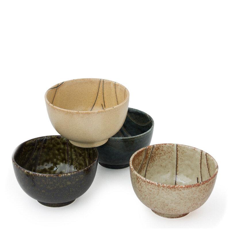 4 Piece 16 Oz. Nami Bowl Set. By Miya Company