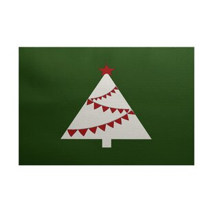 Christmass Tree Green Indoor/Outdoor Area Rug ByThe Holiday Aisle
