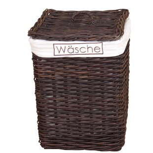 Wicker Laundry Basket By August Grove