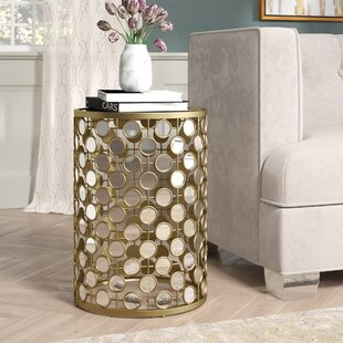Shea Mirrored End Table by Mercer41