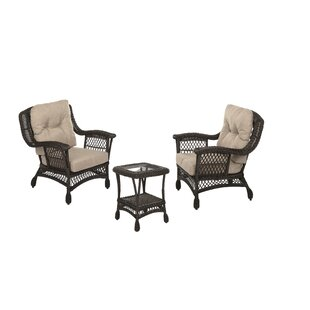 Depasquale Outdoor Garden Bristo 3 Piece Seating Group with Cushions
