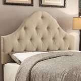 Levasy Queen Upholstered Panel Headboard by Three Posts