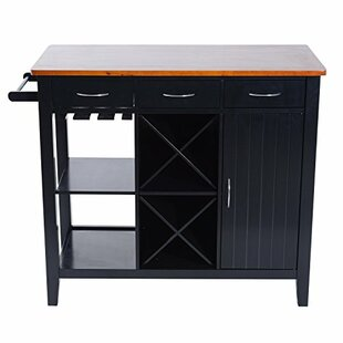 Ham Kitchen Island with Butcher Block Top Winston Porter