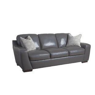Latitude Run Hagan Leather Sofa