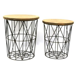 Round 2 Piece Metal Decor End Table by Jeco Inc.