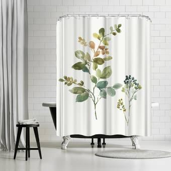 Wrought Studio Gina Single Shower Curtain Reviews Wayfair