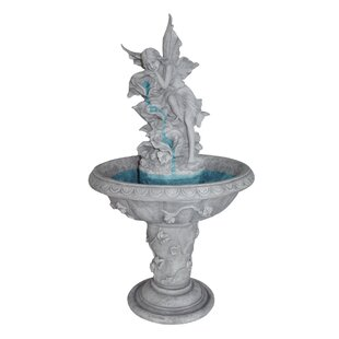 Wildon Home ® Resin Fairy Sculptural Fountain