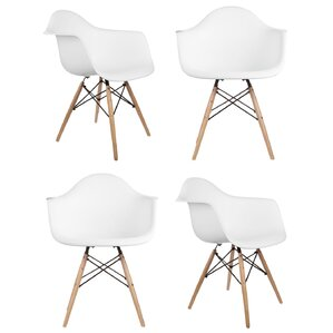 Mid Century Modern Scandinavian Solid Wood Dining Chair (Set of 4) by eModern Decor
