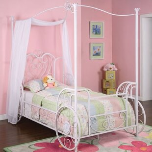 Braylee Vintage Carriage Twin Canopy Bed