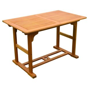 Breakwater Bay Sabbattus Balau Dining Table