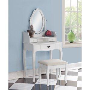 Makeup Tables And Vanities Youll Love Wayfair - Corner makeup vanity table