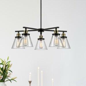 shae 5light shaded chandelier