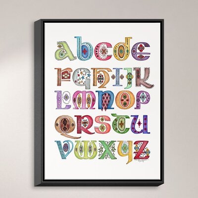 Royal Whimsies Alphabet By Marley Ungaro Textual Art On Wrapped Framed Canvas Dianochedesigns Size 4175 H X 3175 W X 175 D Frame Color Blac