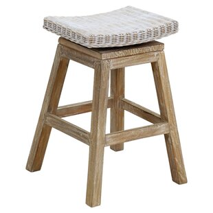 Great Price Glinda Teak Counter Bar Stool by Highland Dunes Reviews (2019) & Buyer's Guide
