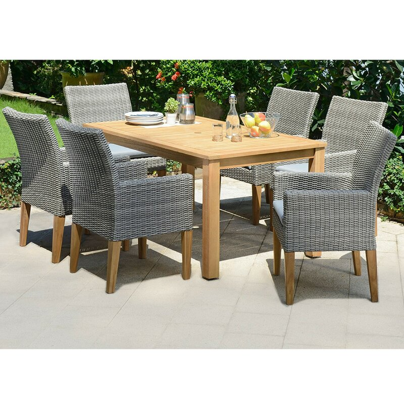 Exceptional Delane 6 Seater Dining Set With Cushions
