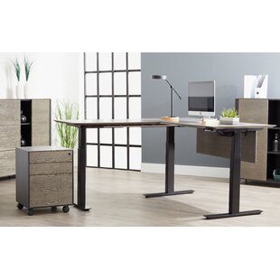 Affordable Clift L-Shape Standing Desk By Union Rustic