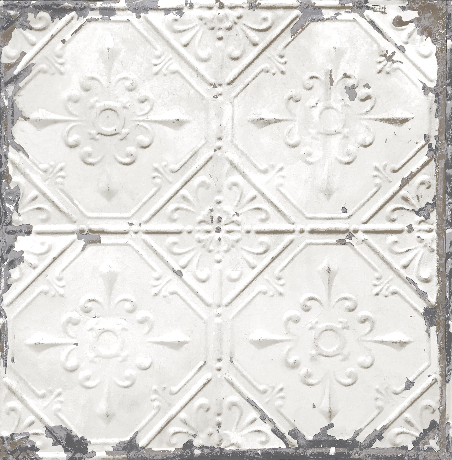Brewster home fashions tin ceiling distressed 33 x 205 brewster home fashions tin ceiling distressed 33 x 205 geometric tile wallpaper reviews wayfair dailygadgetfo Image collections
