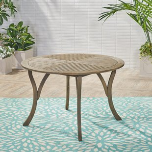 Vanetten Outdoor Wooden Dining Table by Bungalow Rose Today Only Sale