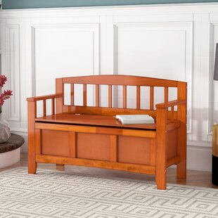 Compare prices Chesterhill Wood Storage Bench By Red Barrel Studio