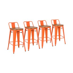 Astonishing Shumake 26 Bar Stool Set Of 4 Unemploymentrelief Wooden Chair Designs For Living Room Unemploymentrelieforg