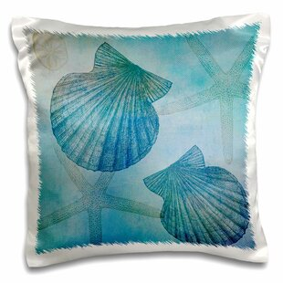 Glasgow Shells And Starfish Beach Themed Art Pillow Cover