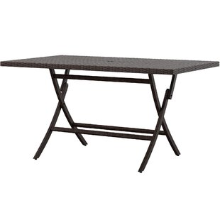 Copher Folding Wicker/Rattan Dining Table