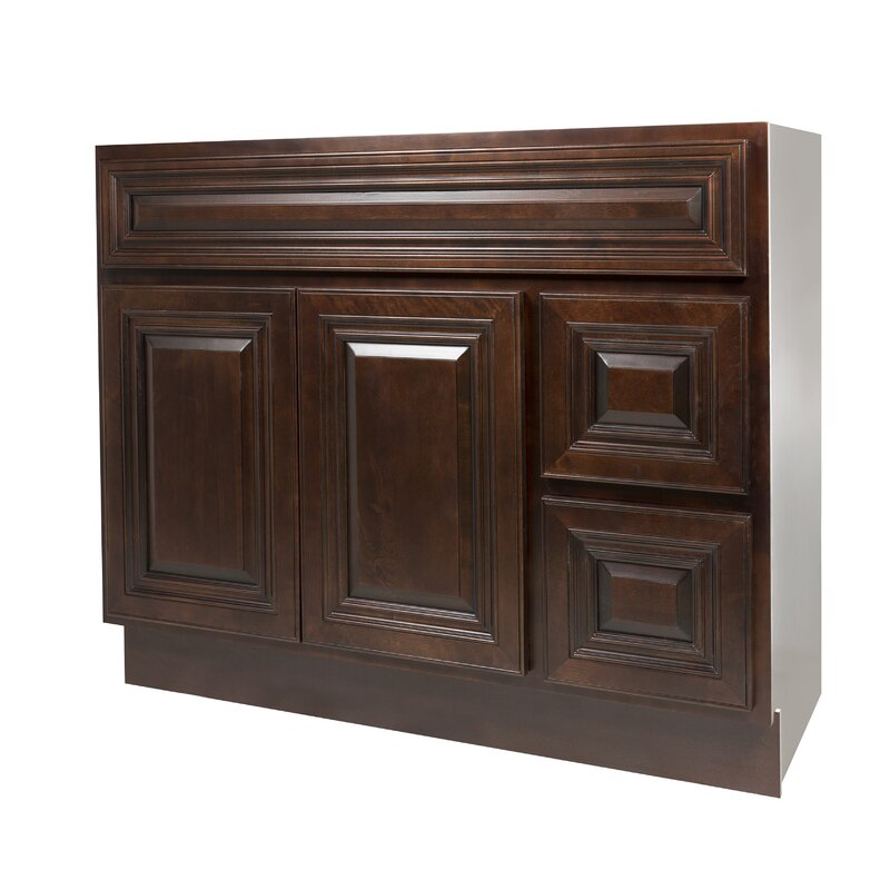 Nelsoncabinetry Midnight 42 Single Bathroom Vanity Base Only Reviews Wayfair