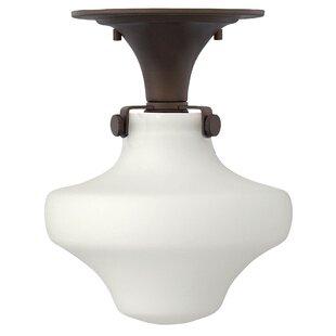 Dingess 1-Light Semi Flush Mount by Ebern Designs