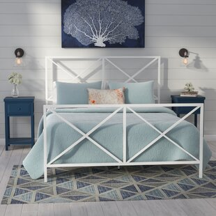 Greenlee Queen All-In-One X Gloss White Metal Bed by Beachcrest Home