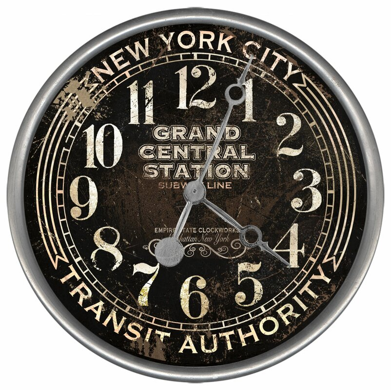 vintage signs subway wall clock  u0026 reviews
