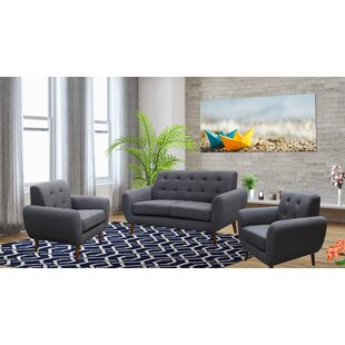 Deandre 3 Piece Living Room Set