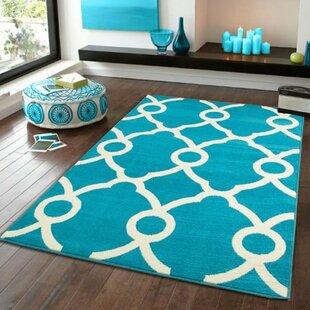 Yablonski Blue Indoor/Outdoor Area Rug