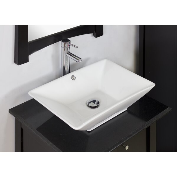 Beau American Imaginations Ceramic Rectangular Vessel Bathroom Sink With  Overflow U0026 Reviews | Wayfair