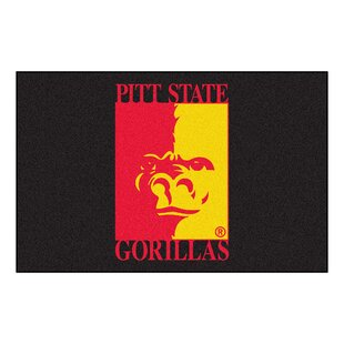 Read Reviews Collegiate Pittsburg State University Starter Hand-Woven Black Area Rug By FANMATS