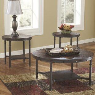 Loon Peak Gaetan 3 Piece Coffee Table Set