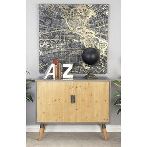 Hannah Wood Cabinet by Mistana