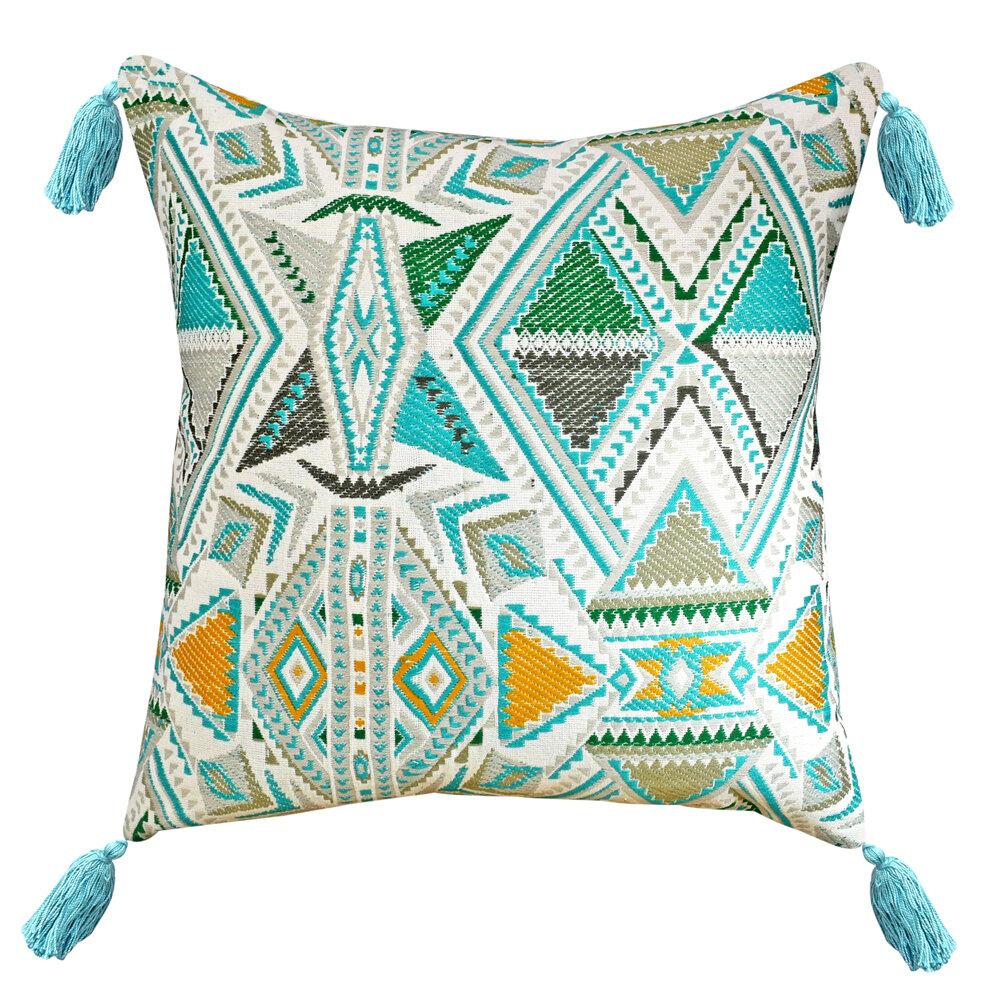 Bloomsbury Market Yawkey Cotton Geometric Throw Pillow Wayfair