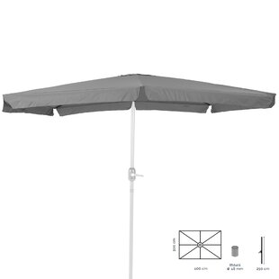 Victoria 4m X 2.5m Rectangular Traditional Parasol By Freeport Park