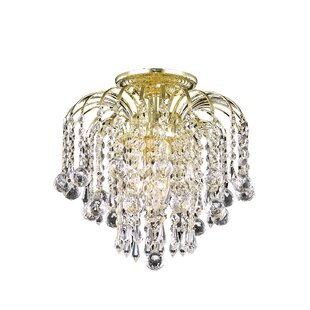 Addison 3-Light Semi Flush Mount by Living District