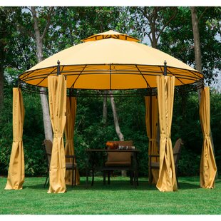 Outsunny 11.5 Ft. W x 11.5 Ft. D Metal Patio Gazebo