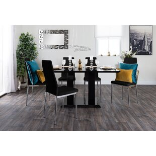 Katiel High Gloss Dining Set With 6 Chairs By Zipcode Design