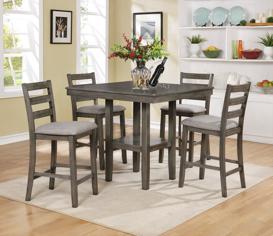 Crown Mark Tahoe 5 Piece Counter Height Dining Set Reviews Wayfair