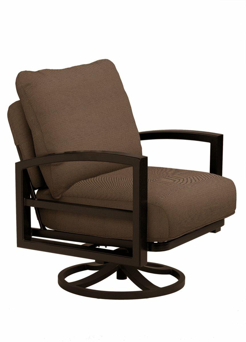 Tropitone Patio Chairs: Tropitone Lakeside Swivel Patio Chair With Cushions