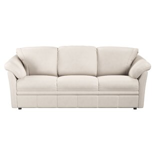 Shop Lyons Leather Sofa Bed by Westland and Birch