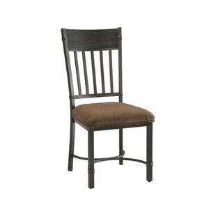 Millen Slatted Back Solid Wood Dining Chair (Set of 2) by Fleur De Lis Living